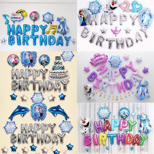 Princesa Carta Balões Folha De Alumínio Crianças Feliz Aniversário Colorido Popular Balão de Alta Qualidade Com Diferentes Estilos 18hx J1