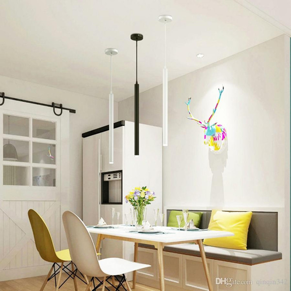LED lampada a sospensione tubo lungo illuminazione cucina isola pranzo plafoniera in camera Negozio Bancone decorazioni Cilindro Tubo Ciondolo cucina leggera