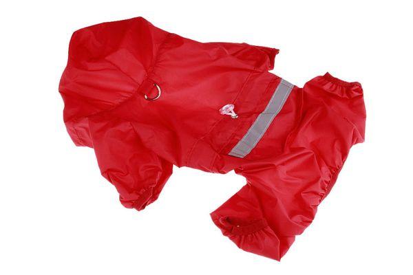 1PCS Fashion Pet Reflective Strip Raincoat Dog Polyester Waterproof Rain Poncho Pet Dog Rain Jacket Red Blue Color 9 Sizes