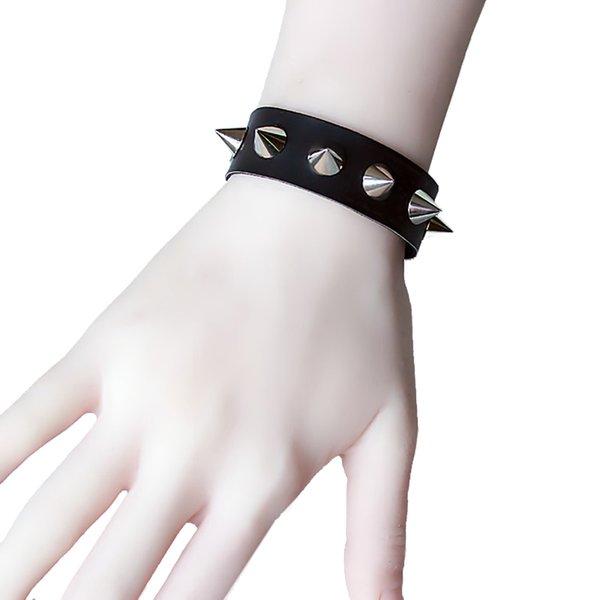 Punk Leather Bracelet Bangle Rivet Stud Spike Rock Cuff Wristband Jewelry Exotic
