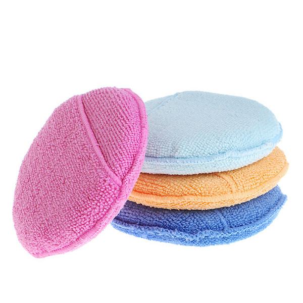 1PC Car Waxing Polish Microfiber Foam Sponge Car Care Shampoo Applicator Cleaning Detailing Pads Automotive Care Supplies