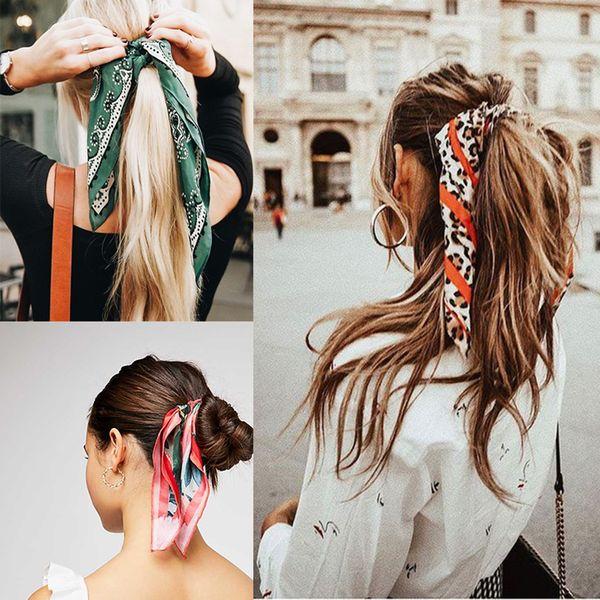 10 adet / grup Kadın Scrunchies Elastik Saç Bandı Çok fonksiyonlu Yay Halatlar Kızlar Saç Kravatlar At Kuyruğu Tutucu Kafa Saç aksesuarları