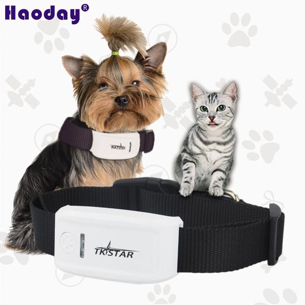 TKSTAR MiNi Pet Tracker GPS GSM GPRS TK909 collar Tiempo real SOS de seguimiento a largo stanby tiempo para perros gatos mascotas para los niños Niños
