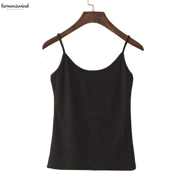 Tank Top лето женщин вскользь Обрезанный Camisoles женщины Верхней майка Спагетти ремень Vest Camis мода Synthetic Cotton