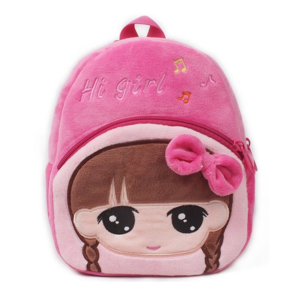 Cute Plush Children Cartoon Backpack For Baby Girl Character Toy School Bag For Boys Book Bags Kids Gift Pt1012