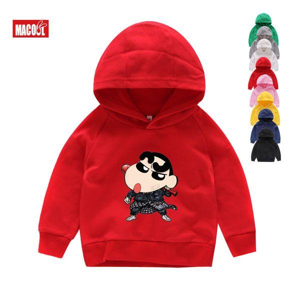 Children Hoodies fashion Cotton Kid Tops Long Sleeves Sweatshirts cool 2019 Crayon Shin-chan Tees Boy Girl Hoodies Kids t shirt