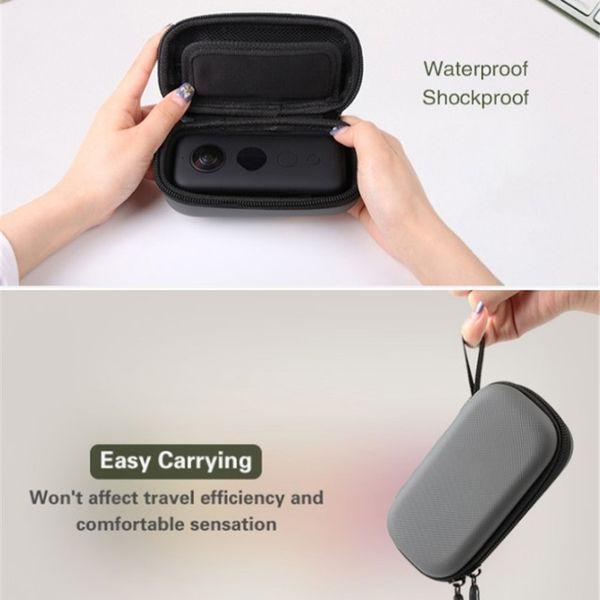 Mini bolsa de almacenamiento Estuches de transporte duraderos compatibles con los accesorios de la cámara Insta 360 One X FW889