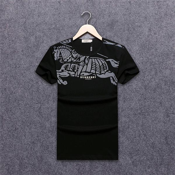 2019 nuove magliette di modo per gli uomini di alta qualità 100% cotone stile estivo manica corta magliette magliette marche abbigliamento uomo lettera stampa # 7014
