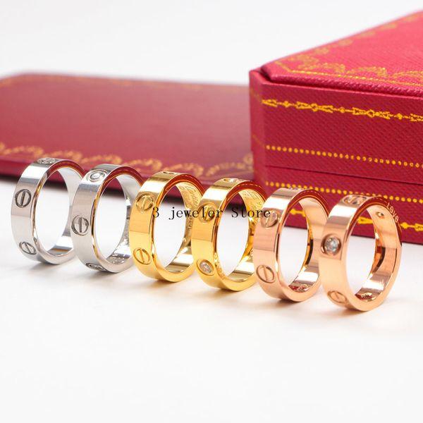 CAR23 Neuankömmling Offizielle Website heißesten Verkauf Edelstahl Ring haben drei Farben für Liebhaber Geschenk wählen