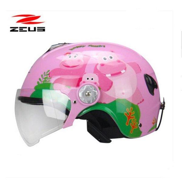 2019 Nova ZEUS Criança Capacetes ZS-108ME Crianças moto capacete feito de ABS com tamanho W PC Visor Lente S 47-52 / M 54-57