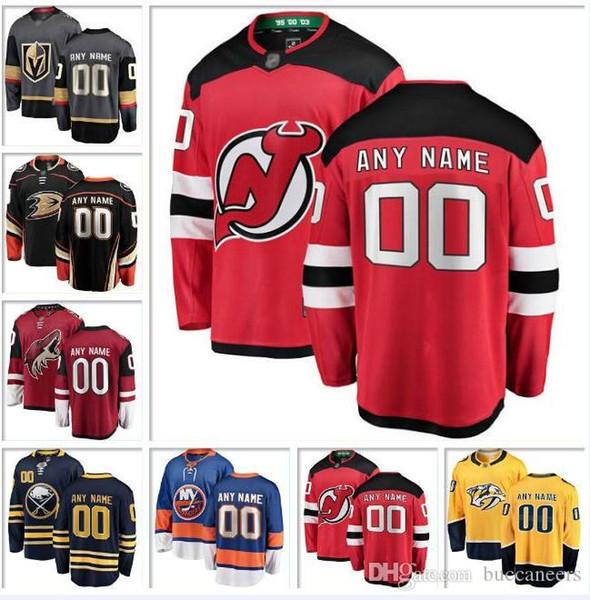 official photos cc7f9 5a733 2019 Custom NHL Hockey Jersey New York Islanders Rangers Devils Knights  Stars Nashville Predators Ducks Canucks Coyotes Hockey Jerseys Panthers  From ...