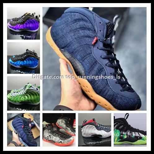 2019 Hot-selling Penny Hardaway Posite calidad superior blanco negro hombres zapatos para mujer zapatillas de baloncesto zapatillas de deporte deporte zapato con logo 2019