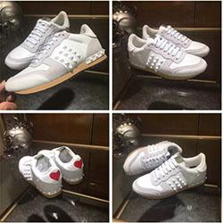 Fashion Lover Designer Rock Stud Sneaker Shoes Women,Men Fashion Casual Shoes Rock Runner Trainer Flats Shoes Size 35-46 F0842