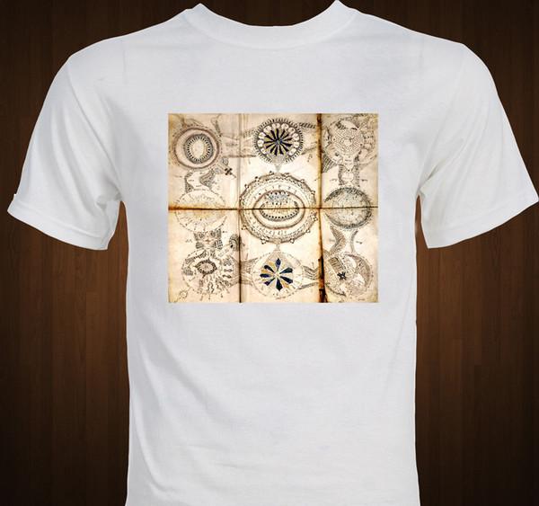 Voynich El Yazması Mistik Gizli Magick Gizem T-shirt erkek gurur koyu t-shirt suit şapka pembe t-shirt