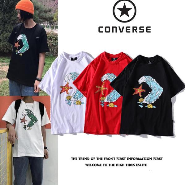 115 Yeni Moda erkek Kısa Kollu Üstleri Hip Hop Rahat T-Shirt Yaz% 100% Pamuk Yüksek Kaliteli Mektup Yüz Baskı Rahat Erkekler T Shirt Tees