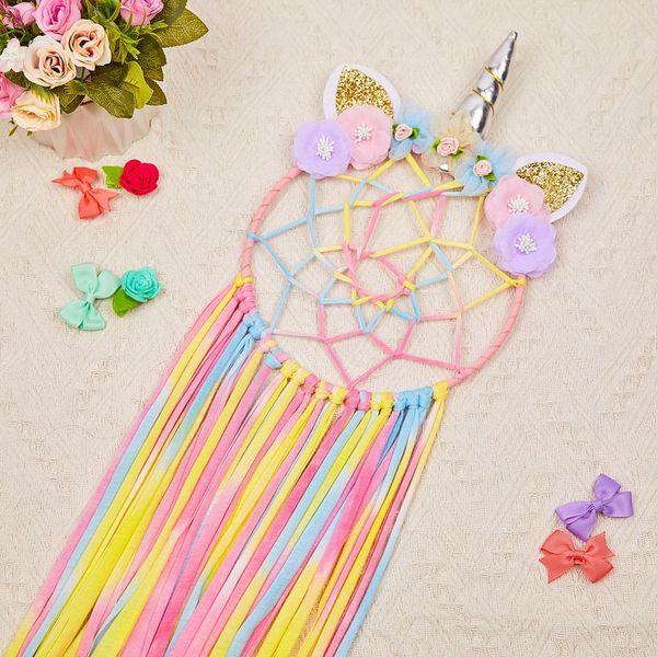 best selling Cute Girl Wind Dream Catcher Room Ornaments Creative Home Decoration Unicorn Wind Chime Small Ornaments EEA346