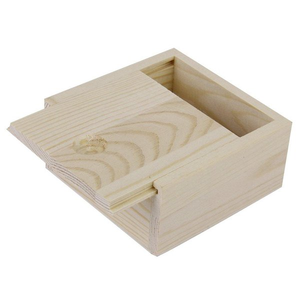 Small Plain Wooden Storage Box Case For Jewellery Small Gadgets Gift Wood color
