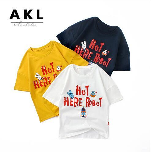 best selling 2020 new best-selling summer children's T-Shirt Medium and large children's cotton loose top boy's short sleeve trend