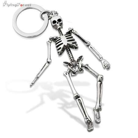 Crâne Porte-clés Pour Hommes Personnalisé Voiture Porte-clés Pour Les Couples De Mode Pliable Squelette Porte-clés Porte-clés Sac Charme Cadeaux