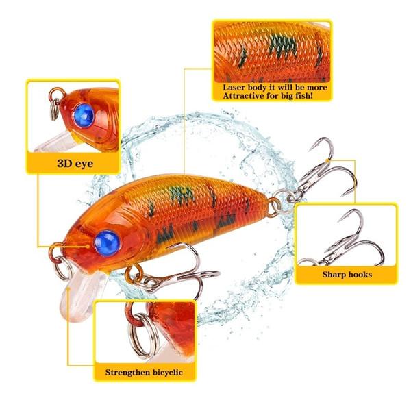 Fishing Lure 50mm 3.7g Topwater Minnow Hard Bait Japan Mini Crankbait Carp Fishing Wobblers Jk204