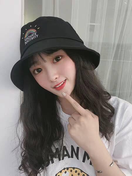 Fisherman's hat female summer Korean version of Japanese fashion sunscreen fashion online celebrity students face cap c