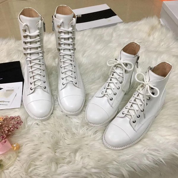 Luxury Shoe Designer Famous Brand Shoe Designer Martin Shoe Fashion Brand High Quality Calf Leather Material Autumn and Winter New Style