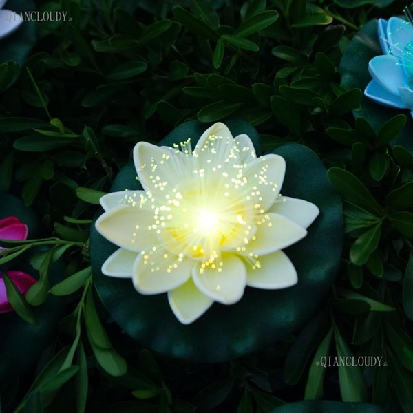 5 pieces Beige Artificial fake pond flowers Lotus leaf flowers Water Lily Floating Pool wedding party floral Plants wedding C70