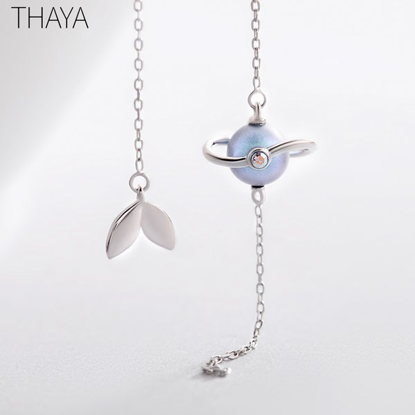 Thaya 925 Silver Earrings Midsummer Night's Dream Design Pendant Earrings Vintage Fantasy Style Party Jewelry For Women Gift MX190726