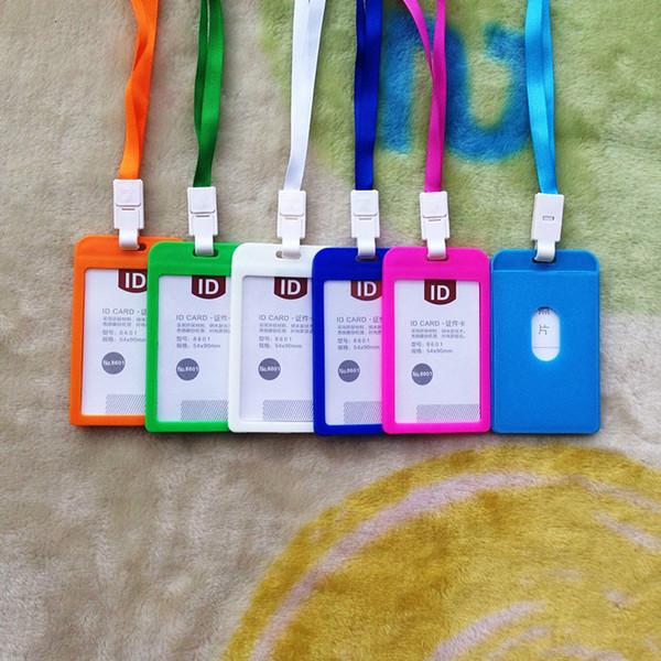 Adı Kredi Kartı 10 renk Sahipleri Kadın Erkek Plastik Banka Kartı Boyun Askısı Kart Otobüs KIMLIĞI sahipleri şeker renkler kimliği ile kimliği ...