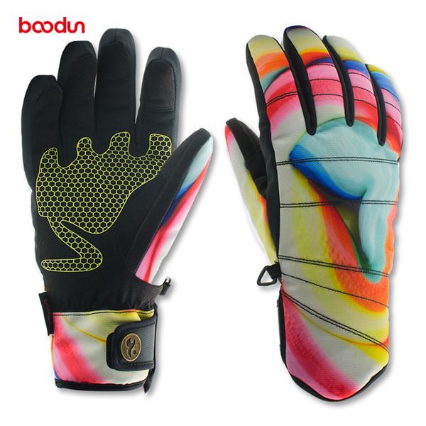 Boodun Womens Winter Warm Gloves Waterproof Girls Glove thermal Windproof Full Finger Glove Soft outdoor guante