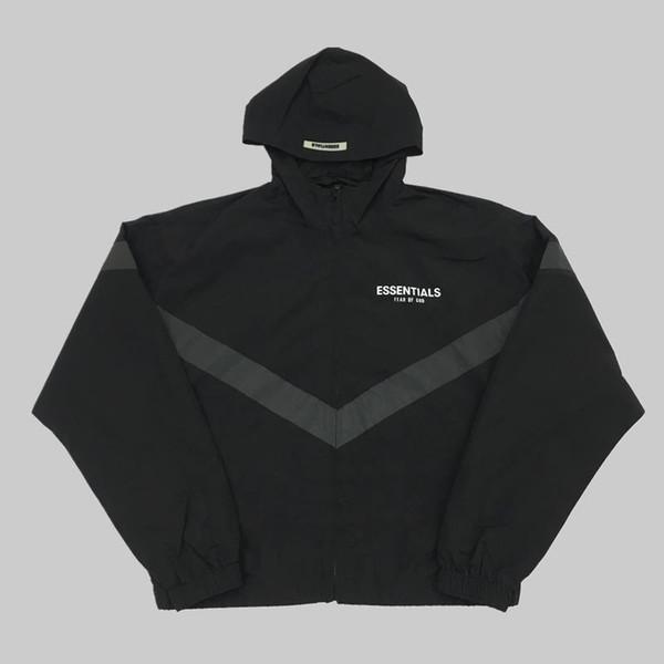 19SS Tanrı korkusu SIS ESSENTIALS 3 M Yansıtıcı Rüzgarlık Kapüşonlu Ceketler Erkek Kadın Rahat Sokak Hip Hop Ceket Moda Dış Giyim ücretsiz gemi