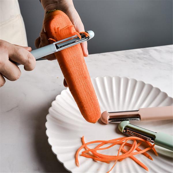 Removedor de pelador multifuncional Cortador de papa Cuchillo de fruta Cepillo de melón Rallador Pelador de vegetales Accesorios de cocina Accesorios