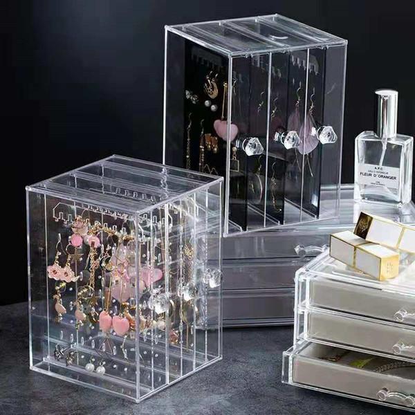 Cristal de joyería de plástico Ps Mostrando Estante Collar Pulsera Pendientes Pendientes Nail Art Display Stand Maquillaje Organizador J190713