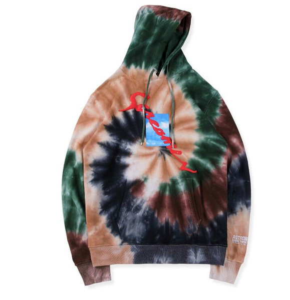 NEW HOT Tie dyeing Travis Scott Astroworld Tour Astronaut Hooded Women Men Hoodies Sweatshirts TRAVIS SCOTT ASTROWORLD Pullover