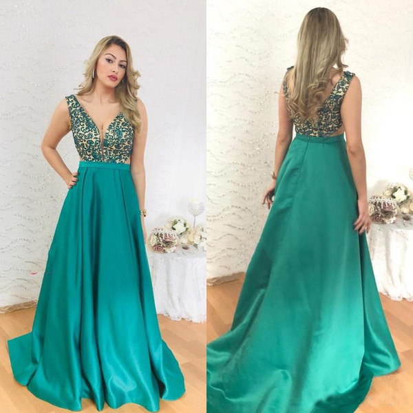 Green Plus Size Mother Of The Bride Dresses V Neck Sleeveless Wedding Guest  Dress Backless Mother\'S Dresses Plus Size Dresses For Grandmother Of The ...