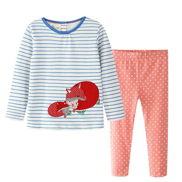 Kinder Hosenanzug Kinder Langarm Kurzarm Hosen T-Shirt Set Streifen Gefleckte Adlergans Strawberry Zwei-Piece-Anzug 45