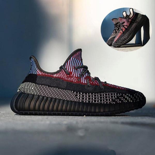 ADIDAS Kanye West V2 Yecheil Laufschuhe preiswerte schwarze Hot Designer Sports Turnschuhe Mann-Frauen Breathable Platform Trainer