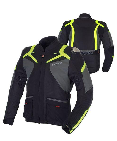 Benkia Chaqueta de moto para hombre Chaqueta de moto de verano Motocross reflexivo Racing Windproof Bikers Riders Protect