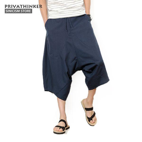 Sinicism Store 5XL Cotone Lino Moda Pantaloni Harem Uomo Pantaloni jogger Pantaloni tradizionali cinesi in stoffa casual Pantaloni taglie forti