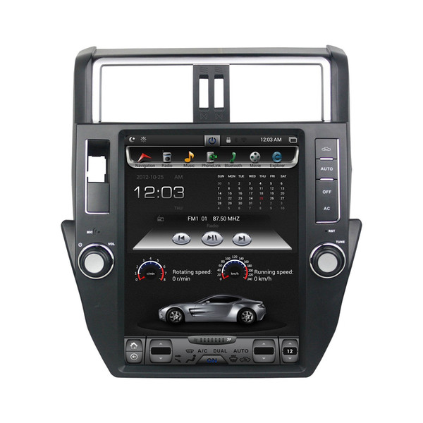 "Vertical Screen 9.7"" Quad core Car DVD Android 7.1 Car Stereo Radio GPS for Toyota Prado 150 LC150 2011 2012 2013 Bluetooth WIFI"