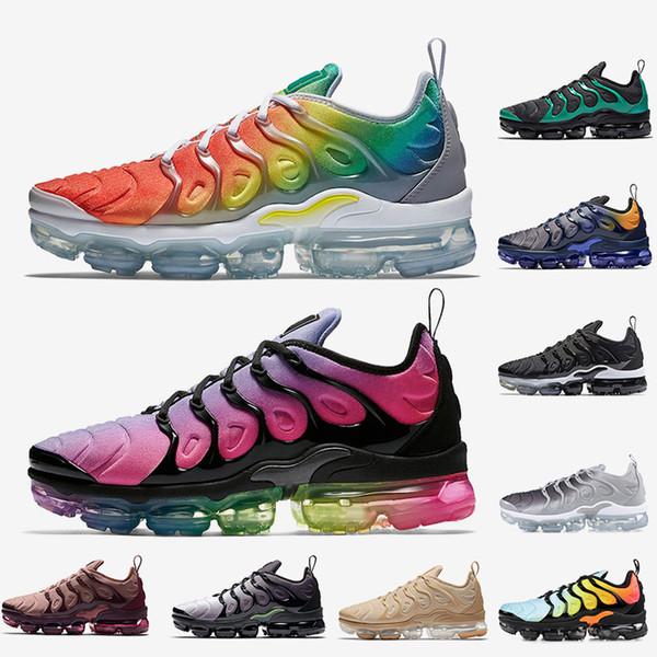 Hot fashion TN Plus Running Shoes Rainbow BETRUE Smokey Mauve Game Royal Grape Fades Blue men shoes women designer sports shoes 36-45