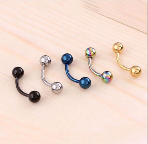 Stainless Steel Nose Navel Lip Eyebrow Ear Septum Cartilage Piercing Body Jewelry Sexy Bars Ear Hoop Earrings For Women&Men