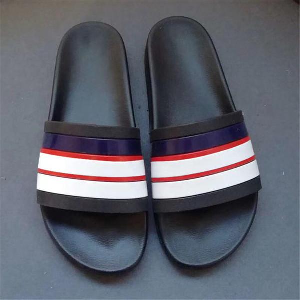 New Slipper Flip Flops Womens Sandal Ladies Sandles Men House Slippers Indoor Slipper Slides Shoes With Box Rubber Contoured Footbed