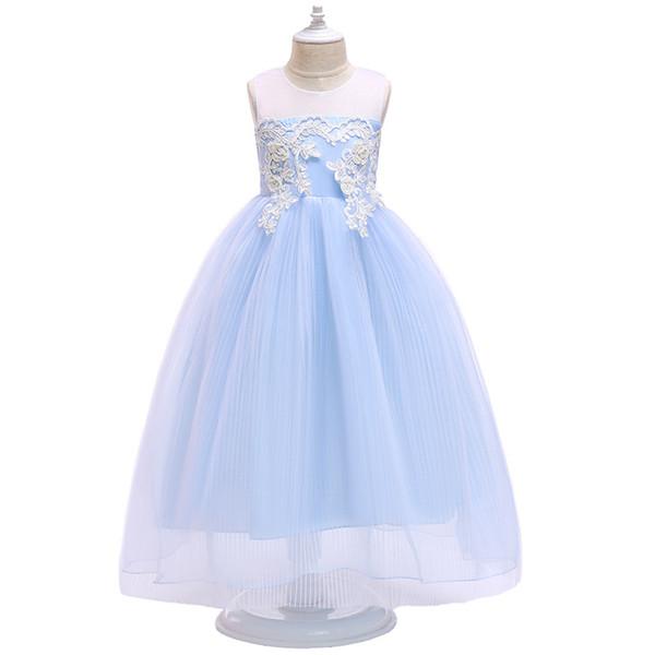 принцесса девушка платье партии мантии шарика юбка сеть вуаль детской одежды новая Европа и Соединенные Штаты Америки в др лете 2020 детей