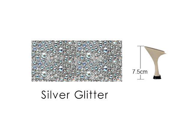 Silver Glitter 75mm