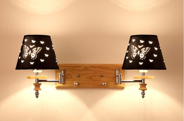 Einstellbare Moderne kurze Nachtwandleuchten 1W Leselicht-Lampe Wand Bett Schlauch Kipphebel Wandbeleuchtung Stoffschirm LLFA geführt