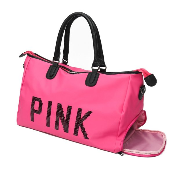 Black Red Pink Rose red Sport Gym Bag Lady Fitness Travel Handbag Outdoor Backpack with Separate Space For Shoes sac de sport #993257