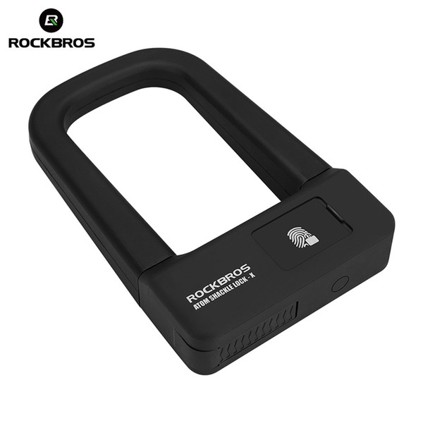 ROCKBROS Bicycle Lock Anti-theft Bike Motorcycle Lock MTB Road Folding Mountain Cycling Fingerprint U Bicycle Accessories #122487