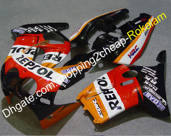 Cheap Fairing For Honda CBR250RR CBR250 RR MC19 1988 1989 88 89 Red Motorcycle Bodywork Complete Fairings Kit (Injection molding)
