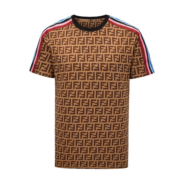 Algodão de manga curta de verão popular novo arco-íris fita impressão T-shirt, manga curta em torno do pescoço, impressão de fita arco-íris de algodão dos homens